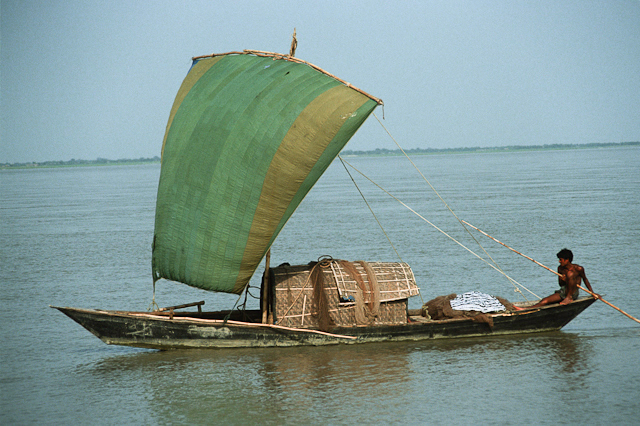 Old damaged slide of boat, Bangladesh, uncorrected for color