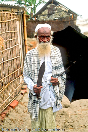 In Kazipur, Bangladesh, this respected elder played an important role in his eroded village's Kurbanir Eid (Eid-ul Azha) celebrations